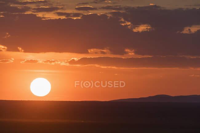 Africa, Namibia, Etosha National Park, Landscape at sunset — Stock Photo