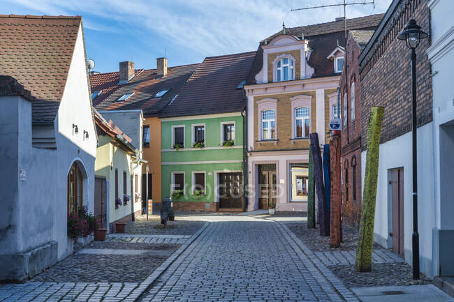 Germany, Luebbenau, view of Apothekengasse in the old town — Stock Photo