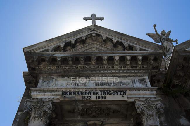 Tumba de Bernardo de Irigoyen, Cementerio La Recoleta, Buenos Aires, Argentina, Sudamérica - foto de stock