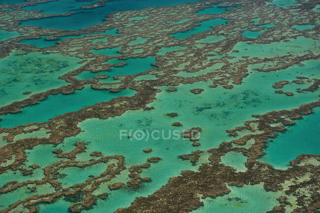 Aerial view of the Great Barrier Reef, Queensland, Australia — Stock Photo