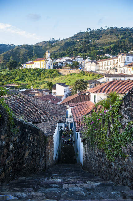 View of the colonial town of Ouro Preto, Minas Gerais, Brazil — Stock Photo