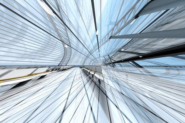Visualización de la arquitectura de un aeropuerto, 3D Rendering - foto de stock
