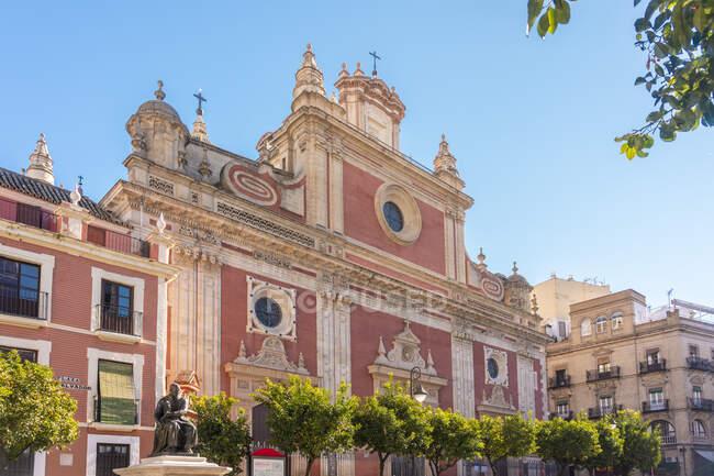 El Divino Salvador iglesia exterior, Sevilla, España - foto de stock