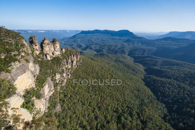 Le scogliere rocciose delle Blue Mountains, Nuovo Galles del Sud, Australia — Foto stock
