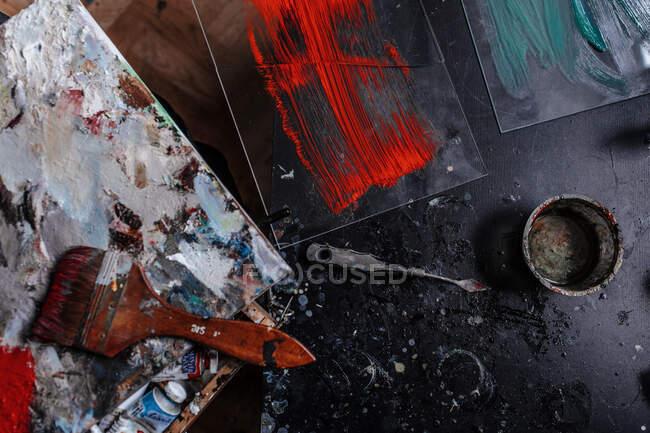 Interno di uno studio d'arte — Foto stock
