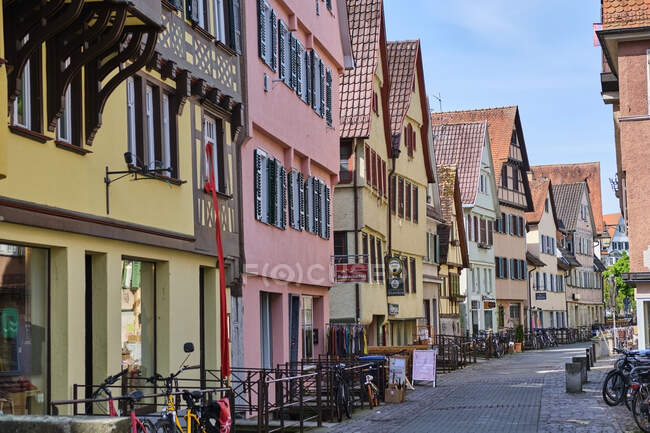 Row of houses in the old town, Tuebingen, Baden-Wuerttemberg, Germany — Stock Photo