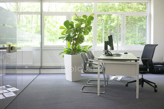 Empty workspace in office — Stock Photo