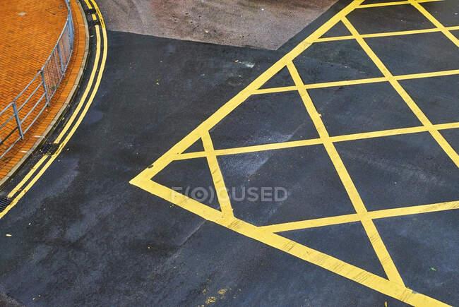 Road markings, Central District, Hong Kong, China — Stock Photo