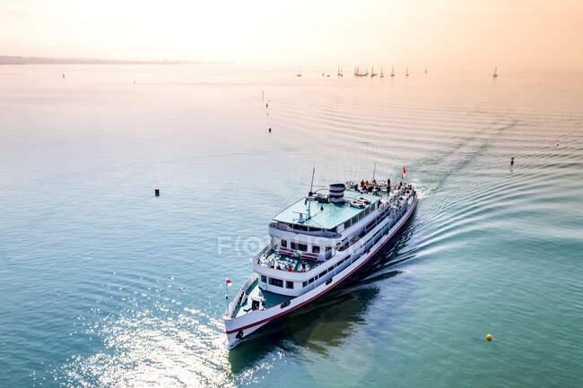 Escursione in barca sul Lago di Costanza, Friedrichshafen, Germania — Foto stock
