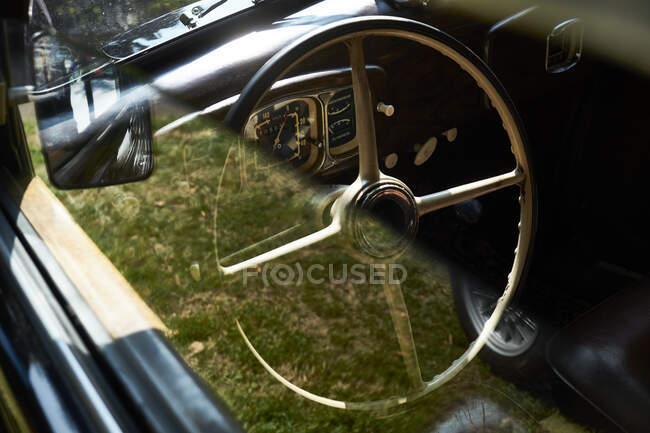 Detail of a vintage car — Stock Photo