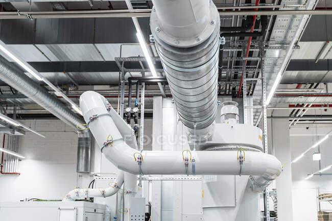 Pipeline inside modern factory, Stuttgart, Germany — Stock Photo