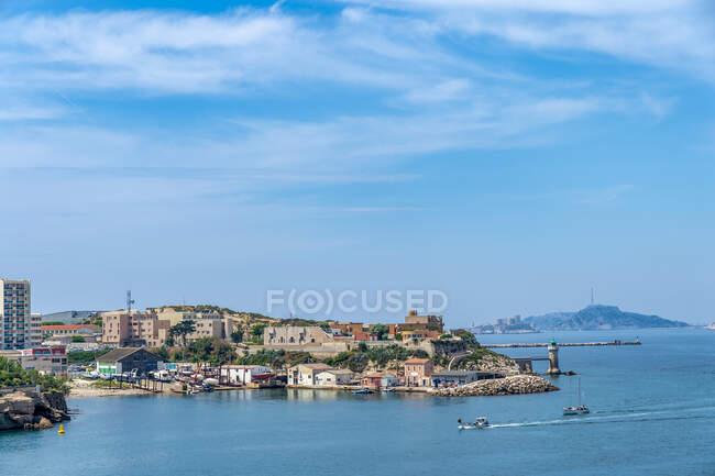 Francia, Provenza-Alpi-Costa Azzurra, Marsiglia, ingresso porto, Faro, Castello d'If — Foto stock