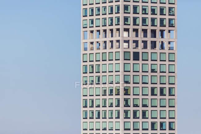 Detail of 432 Park Avenue skyscraper at blue hour, Manhattan, New York City, USA — Stock Photo