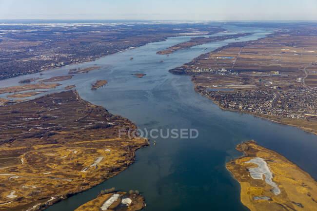 Canadá, Quebec, Vista aérea de la región - foto de stock