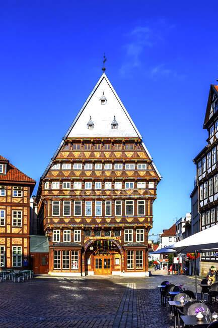 Butchers 'Guild Hall, Hildesheim, Alemania - foto de stock