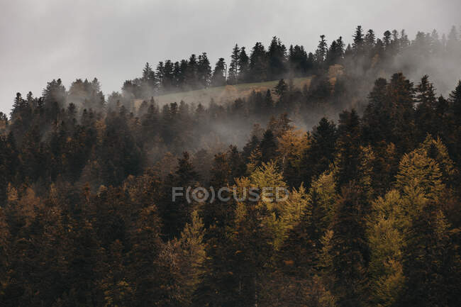Dramatic landscape of storm clouds on Midi-Pyrenees, France — Stock Photo