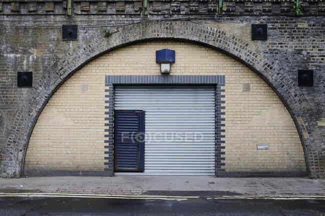 Garage door, London, UK — Stock Photo
