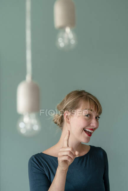 Portrait of excited woman — Stock Photo