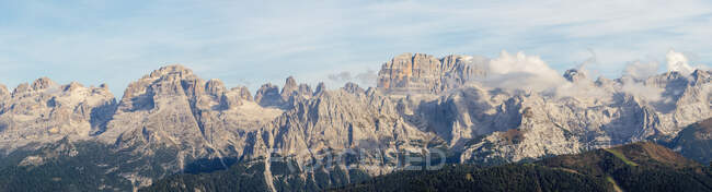Panoramic view over Adamello Alps, Italy — Stock Photo