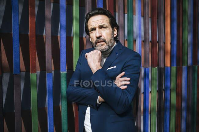 Portrait of pensive mature businessman — Stock Photo