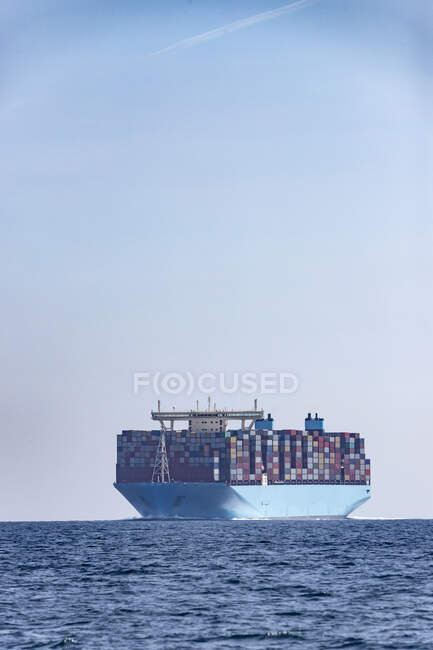 Container ship, Strait of Gibraltar, Tarifa, Spain — Stock Photo