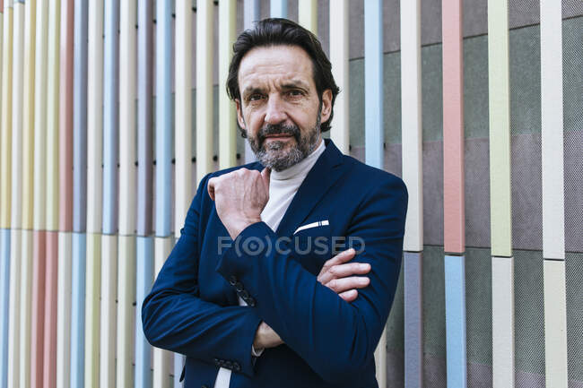 Portrait of bearded mature businessman — Stock Photo