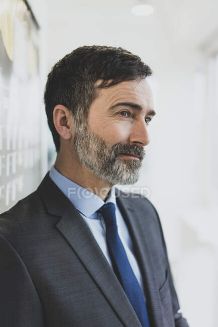 Portrait of confident mature businesman in office — Stock Photo