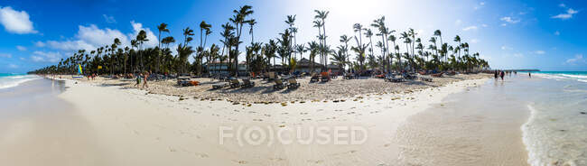 Caribe, República Dominicana, Punta Cana, Vista panorámica de Playa del Cortecito - foto de stock