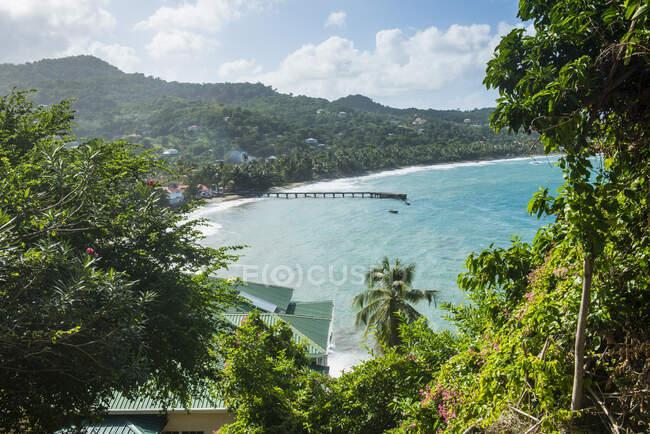 Veduta aerea della baia di Sauteurs a Grenada, Caraibi — Foto stock