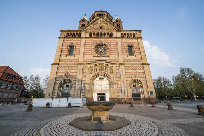 Germany, Speyer, Facade of Speyer Cathedral — Stock Photo