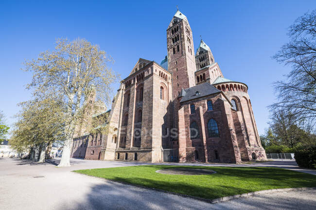 Germany, Speyer, Exterior of Speyer Cathedral — Stock Photo