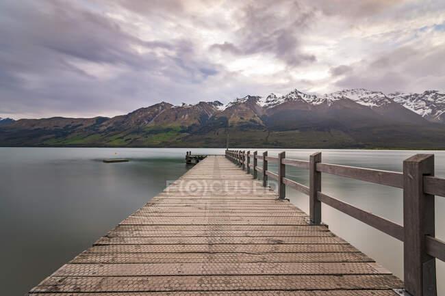 Pier, Glenorchy, South Island, New Zealand — Stock Photo