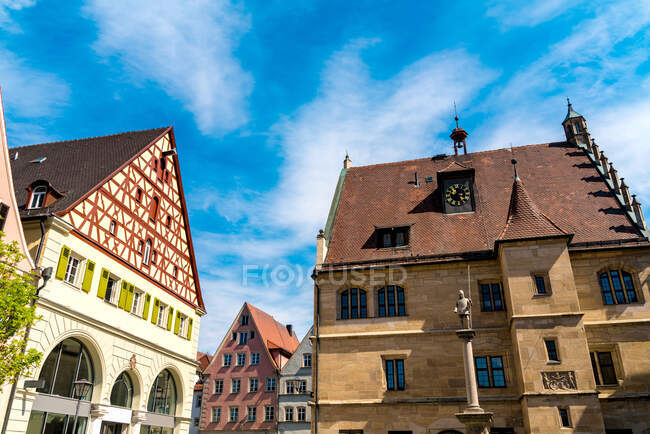 Exterior of historic buildings against sky in Weissenburg, Bavaria, Germany — Stock Photo