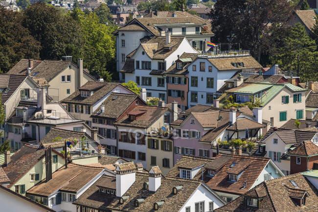 Switzerland, Canton of Zurich, Zurich, Houses of old town district — Stock Photo