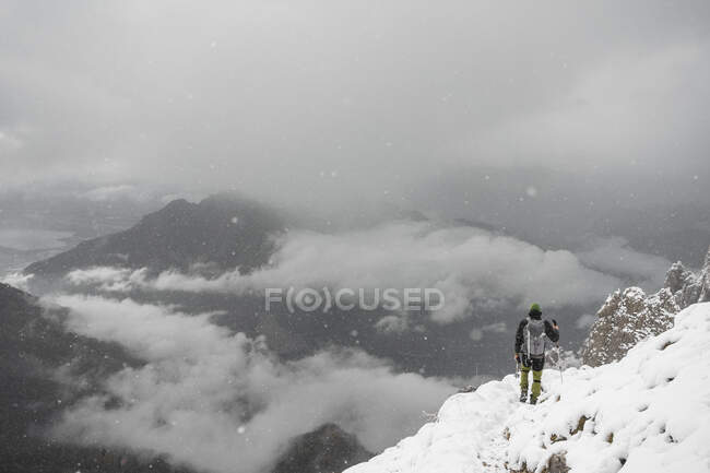 Alpinisme, Alpes italiennes, Lecco, Lombardie, Italie — Photo de stock