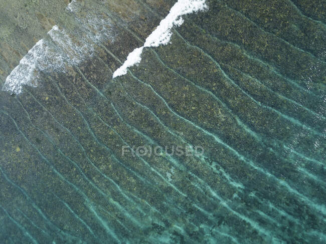 Aerial view of reef near Lembongan island, Bali, Indonesia — Stock Photo