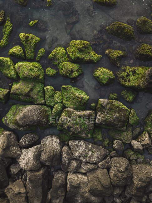 Veduta aerea della spiaggia di Kedungu, Bali, Indionesia — Foto stock