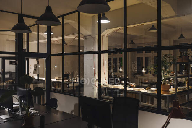 Interior of a loft office — Stock Photo