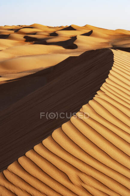Султанат Оман, Вахиба Сэндс, дюны в пустыне — стоковое фото