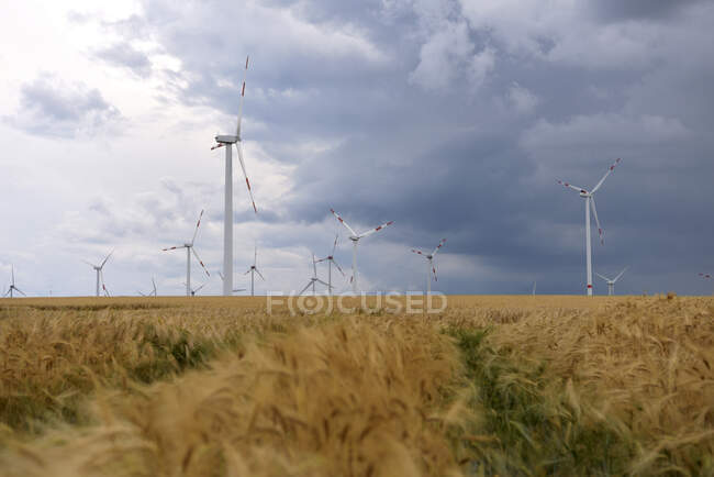 Onshore wind park, Germany — Stock Photo