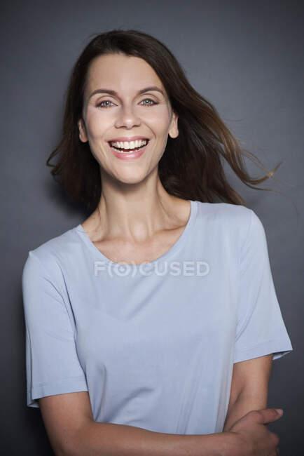 Portrait of happy attractive woman — Stock Photo