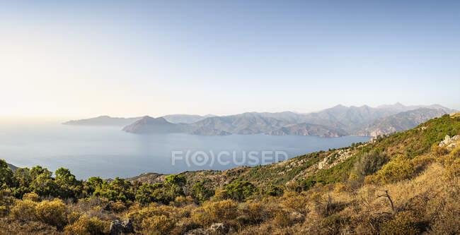 Vista da Belvedere de Saliccio, Piana, Corse-du-Sud, Corsica, Francia — Foto stock