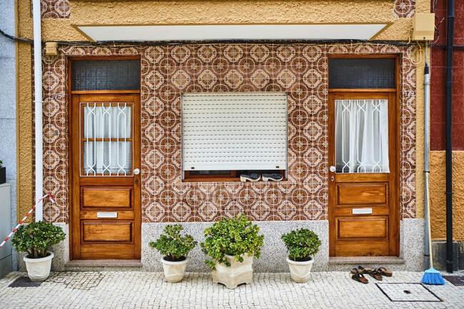 Portugal, Porto, Afurada, Unique house facade seen during daytime — Stock Photo
