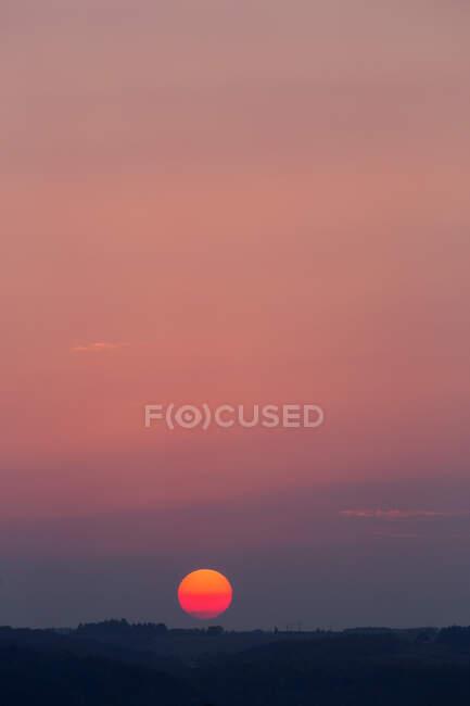 Germany, Wuerzburg, evening sky at sunset — Stock Photo