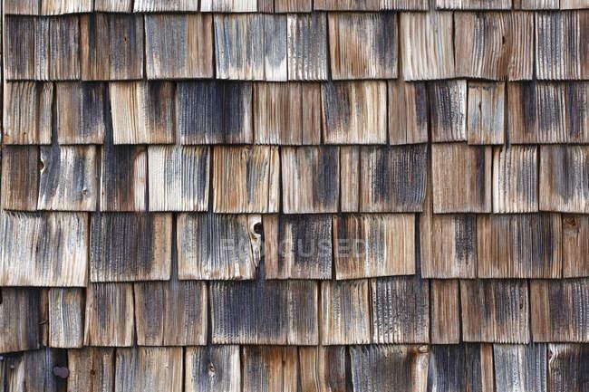 Vollrahmenaufnahme von Holzschindeln — Stockfoto