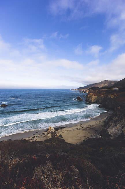 США, Каліфорнія, небо над тихоокеанським узбережжям — стокове фото