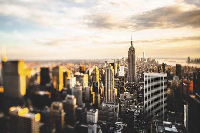 США, Нью - Йорк, Нью - Йорк, Вид на хмарочоси Манхеттена — стокове фото