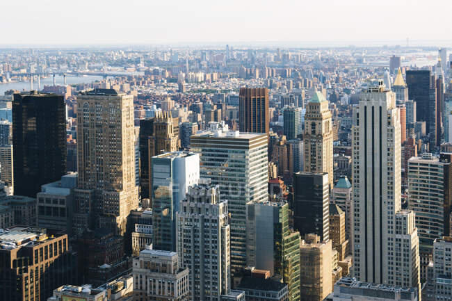 USA, New York, New York City, View of Manhattan skyscrapers — Stock Photo