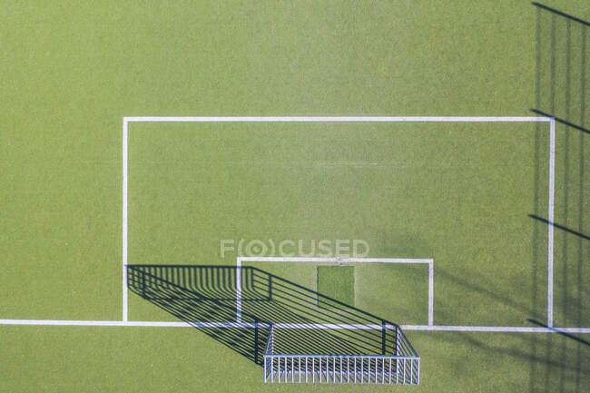 Drone shot of soccer field, Munique, Alemanha — Fotografia de Stock