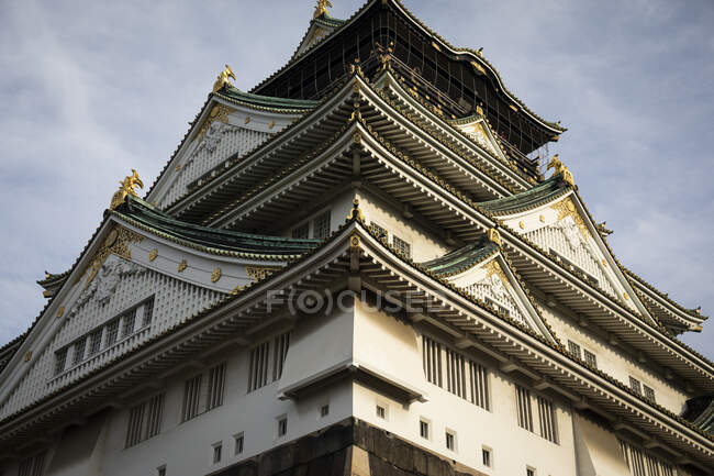 Japan, Osaka, Low angle view of castle — Stock Photo